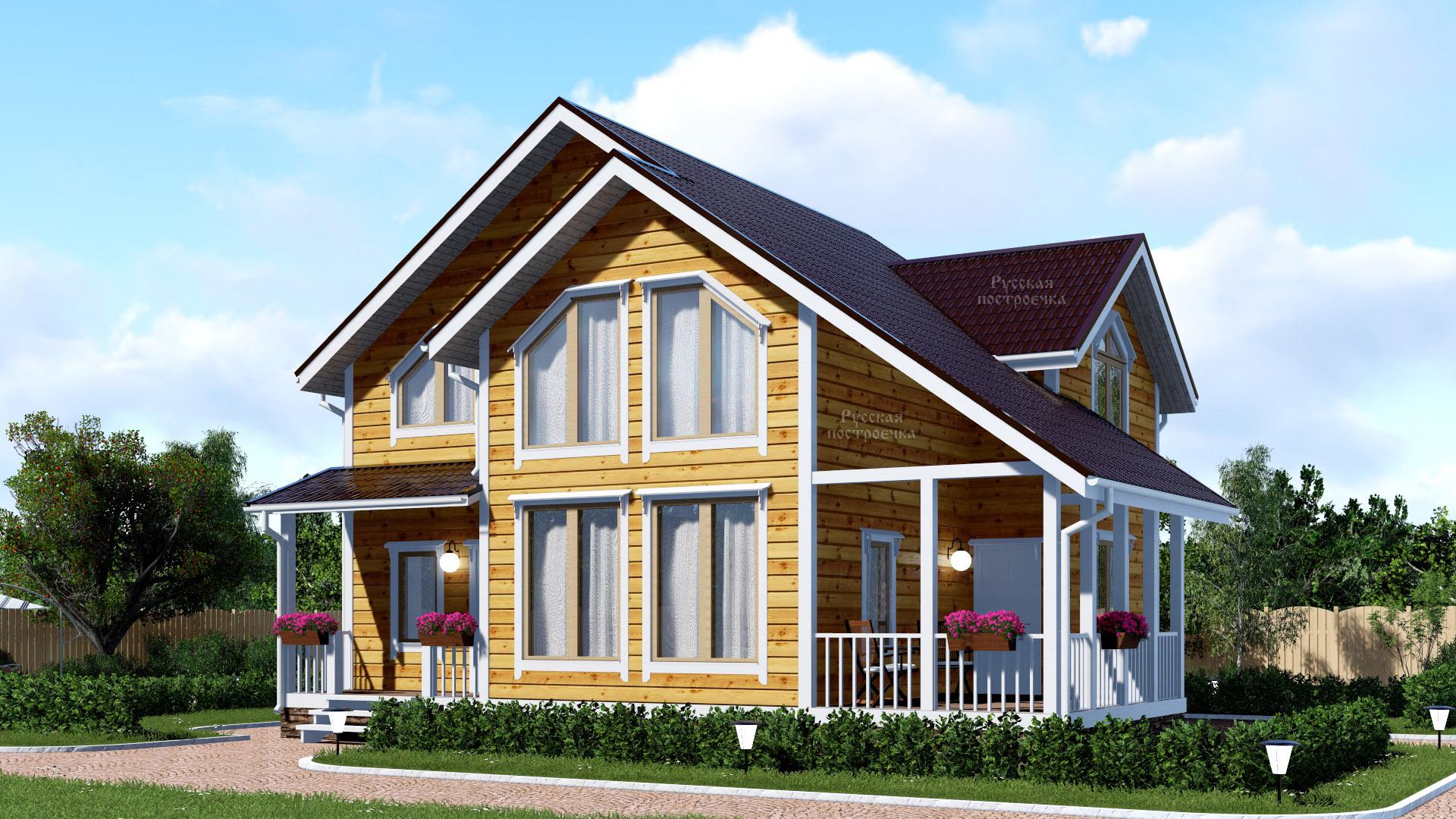 Строительство каркасного дома в стиле шале