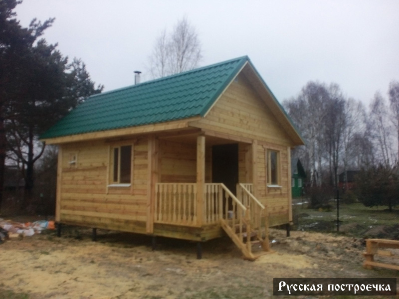 Проект дома-бани из оцилиндрованного бревна №132-1 - цена бани ... | 600x800