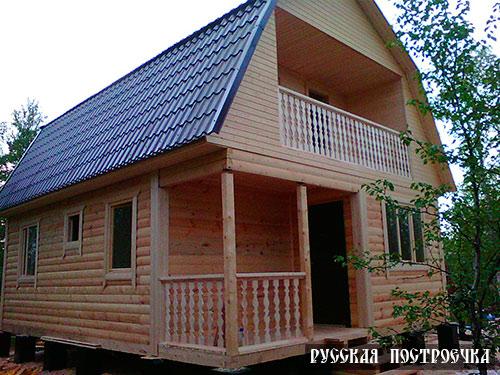 26 июля 2014 г. наша компания завершила строительство брусового дома с мансардой в Мурманской области, Кольском районе, на 49 км. автодороги