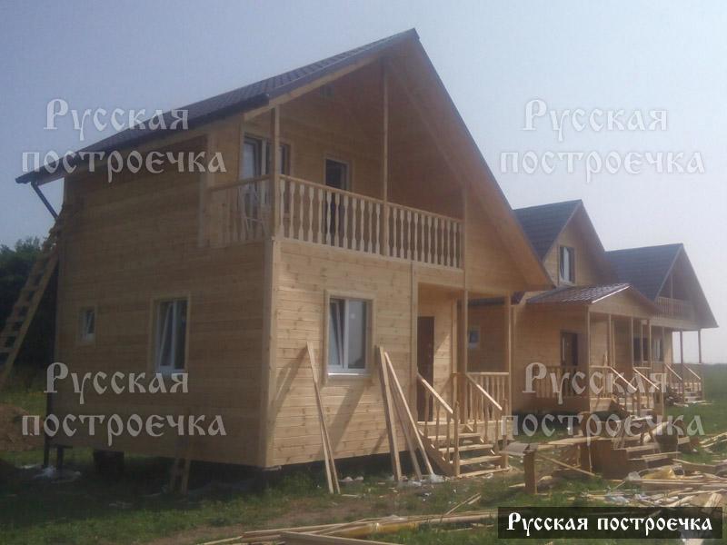 Комплекс из пяти каркасных домов размером 6 на 6
